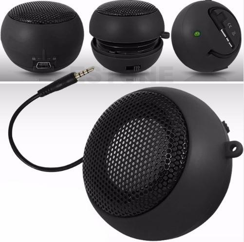 Mini Caixa Som Redondo Audio Portatil Tablet Calular