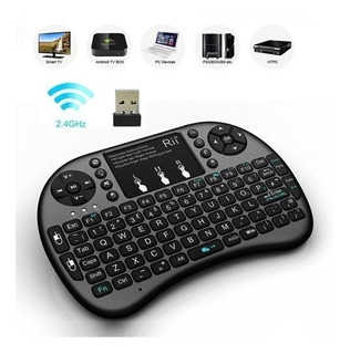 Mini Teclado Inalámbrico Airmouse Android Smart Tv Iluminado