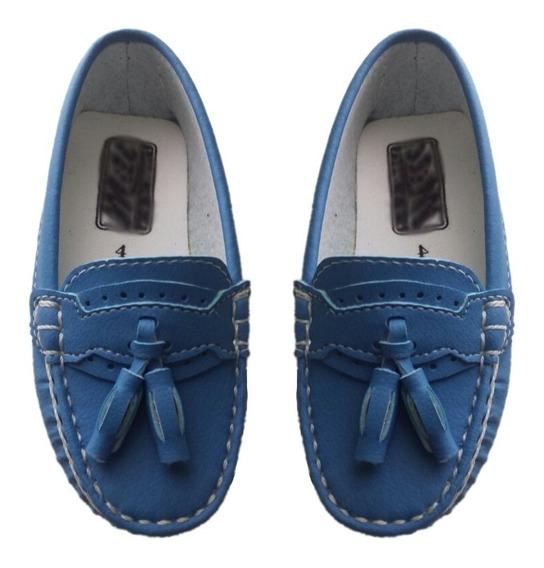 Mocassim Cravinho Sapato Social Menino Infantil Marinho Azul