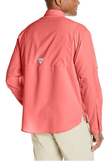 Camisa Columbia Talla S Color Salmon Manga Larga