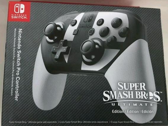 Procontroller Switch Smash Bros Original Nintendo, Na Caixa