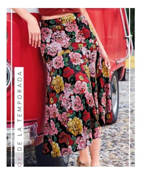Falda Casual Dama Multicolor 246-68 Cklass 1-20 J