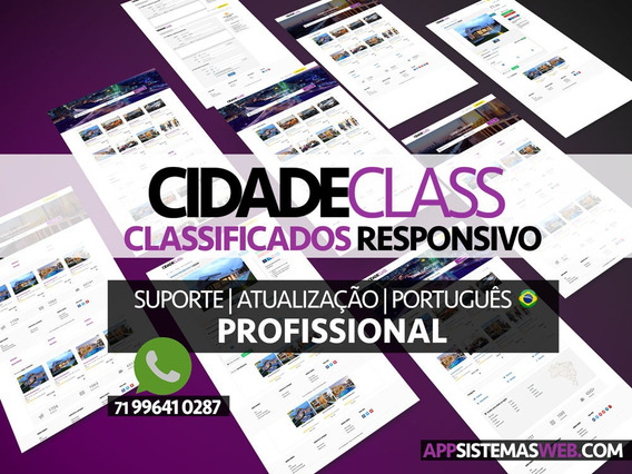 Classificados Online Completo Profissional Internet