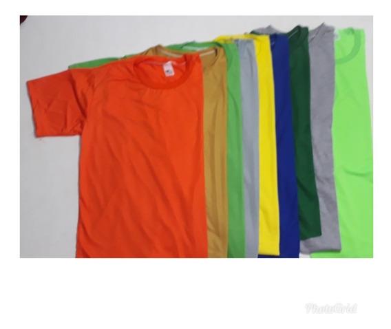 Kit Com 50 Camisetas Coloridas Para Sublimação