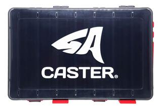 Caja Pesca Caster Para Señuelos Doble Faz 16 Divisiones 002