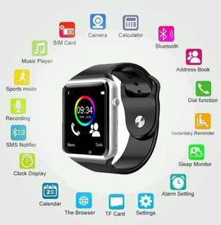 Relogio Digital Feminino Smartwatch Cartao Sd