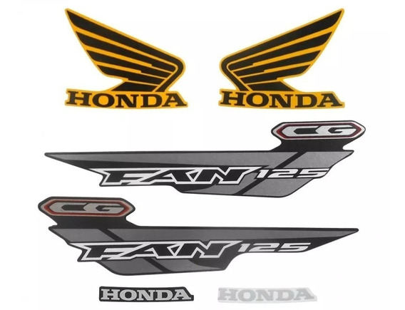Kit Adesivos Honda Fan 125 Ks 2014 Amarela