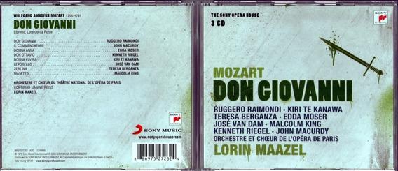 Cd Don Giovani Raimondi/te Kanawa /berganza /dir Maazel 3dis