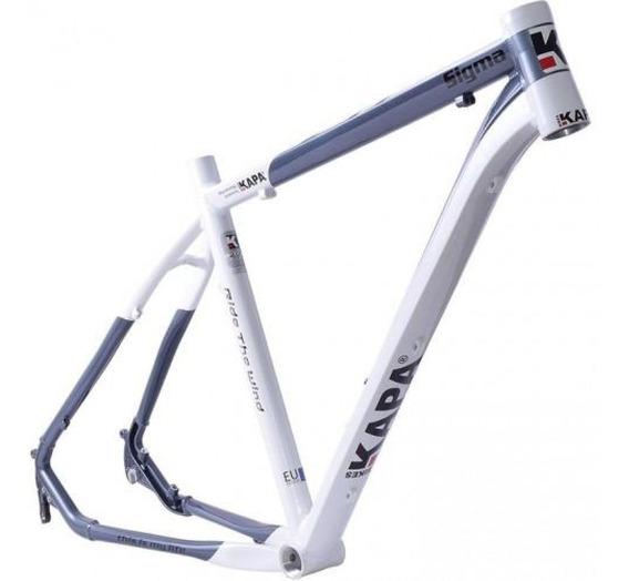 Quadro 29 Sigma Alumínio Branco / Cinza Tam 18 - Kapa Bikes