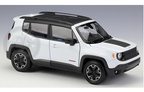 Miniatura Jeep Renegade Trailhawk Branco 1/24 Welly