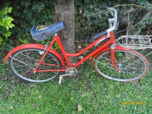 Antigua Bicicleta Niño Niña Paseo Rodado 20 Porta Equipaje