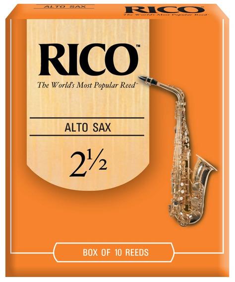 Rico By Daddario Rja1025 Caña 2,5 Para Saxo Alto Pack X 10