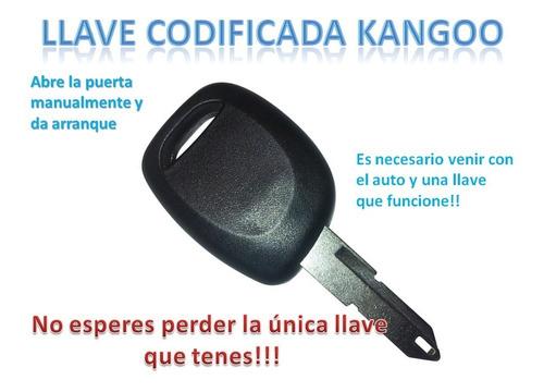 Imagen 1 de 1 de Llave  Renault Kangoo Hasta 2014 Se Programa En El Auto