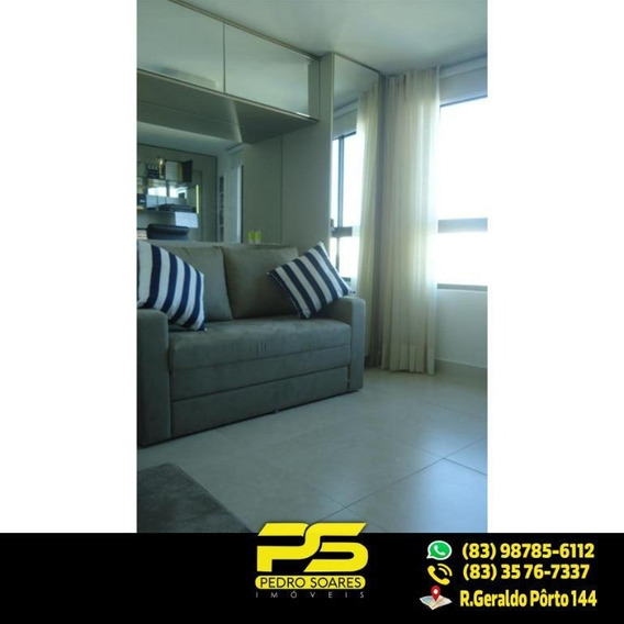 (luxo) Cobertura Com 2 Qts Sendo 1 Suíte À Venda, 130 M² Por R$ 1.000.000 - Beira Mar Cabo Branco - João Pessoa/pb - Co0029