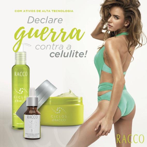 Racco Contra Celulite Ciclos Kit C/3 Produtos.