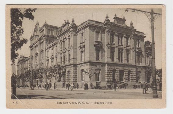 Antigua Postal Buenos Aires Estacion Once