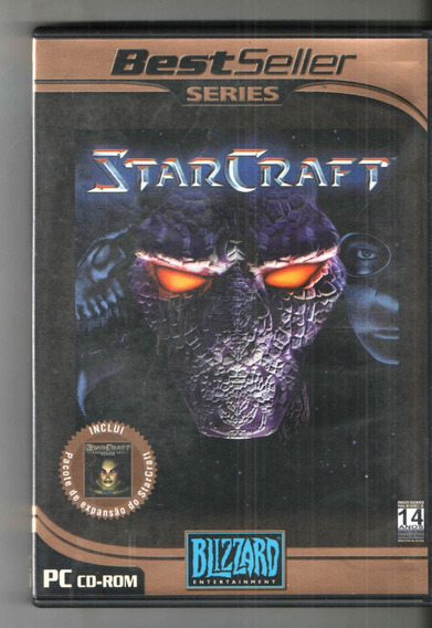 Jogo Pc Cd Rom Starcraft Blizzard Perfeito