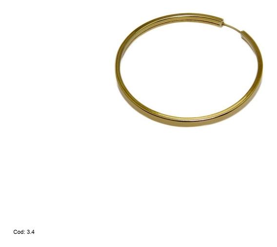 Brinco Argola Em Ouro 18k 750 C(025) Com Oferta Especial