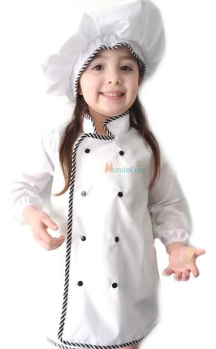 Imagen 1 de 1 de Disfraz De Chef Para Adulto Traje Cocinero Hombre Y Mujer