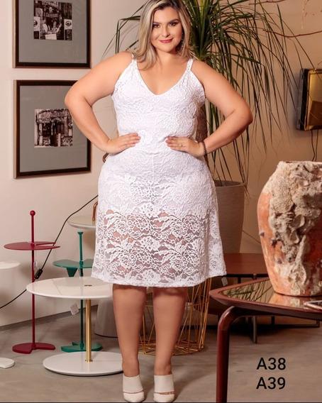Macaquinho Short-saia Plus Size Vestido Moda Gg 44 Ao 52