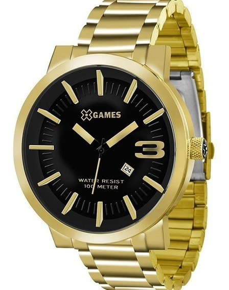 Relógio X-games Masculino Dourado Grande Xmgs1007 P2kx