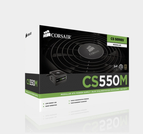 Fonte Corsair 550w Cs550m Modular,certificado 80 Plus Gold