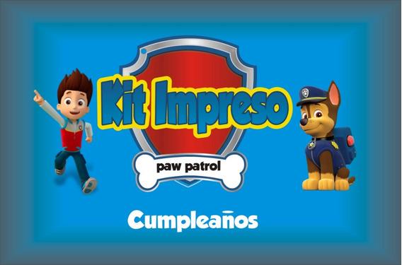 Paw Patrol Kit Impreso Para 15 Niños