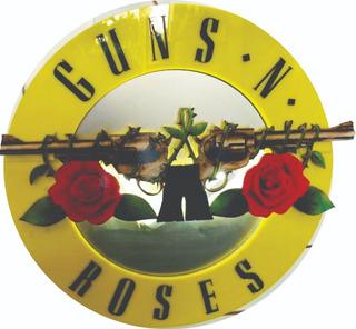 Guns & Roses Decoracion Letrero Led