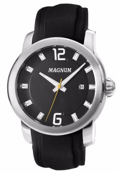 Relógio Masculino Magnum Ma34307t Prata- Original Novo