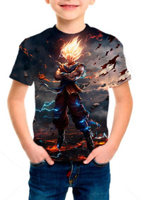 Camiseta Infantil Dragon Ball Goku E Vegeta
