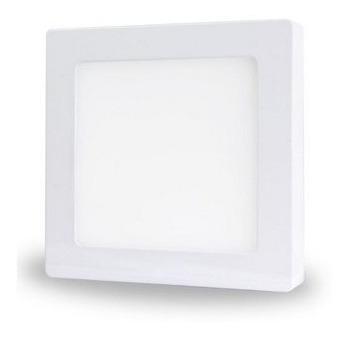 Painel Plafon Sobrepor Led 9w Branco Quente Quadrado