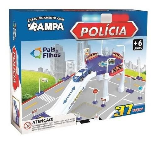Imagem 1 de 5 de Brinquedo Estacionamento C/ Rampa Esquadrão Da Polícia Kids