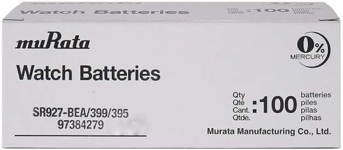 Imagen 1 de 10 de Pila Sony Murata 395/399/sr927 Caja 100u. Distribuidor Ofic.