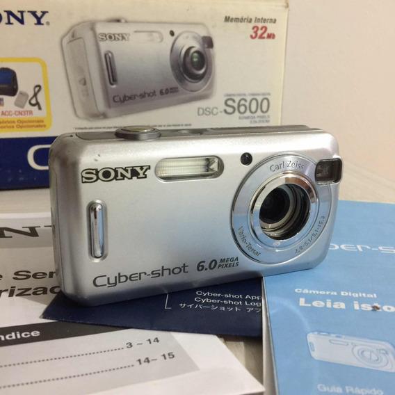 Câmera Digital Sony Cyber Shot 6mp Seminova Dsc S600 3x Zoom