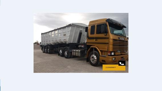 Scania 113 360 6x2 98/98 Com Carreta Caçamba 28 Metros