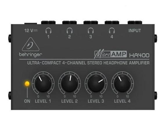 Amplificador De Fone Behringer Ha400 4 Canais Powerplay