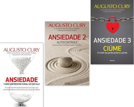 Kit Livros Augusto Cury - Ansiedade Volumes 1 2 3