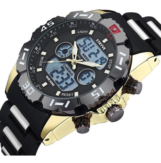 Relojes Hombre Stryve S8010 Militar Sport Análogo Digital