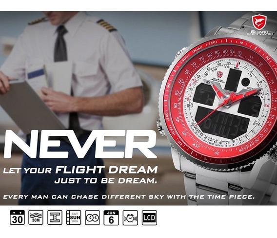 Relógio Shark Militar - Sh328 - Original Dia Dos Pais