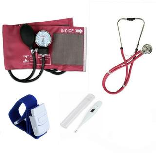 Kit Enfermagem Premium Cor Vinho 5 Itens