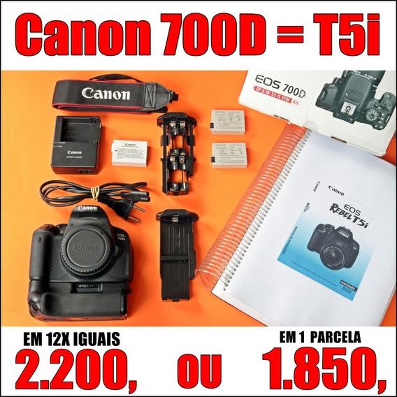 Canon Eos 700d = T5i - Corpo + Acessórios: Você Fotógrafo!
