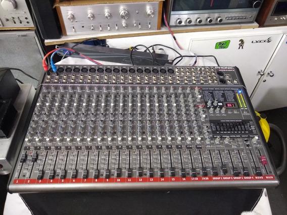 Mesa De Som Phonic Am2442fx 24 Canais Ñ Behringer Yamaha