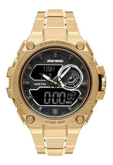 Relógio Mormaii Masculino Thunder Pro Dourado Mozd1161/1d