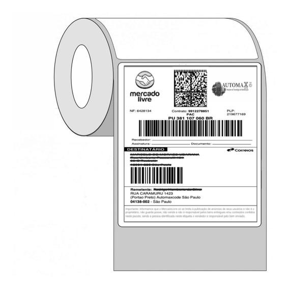 25 Rolos Etiqueta Adesiva 10x15 Cm Para Mercado Envios