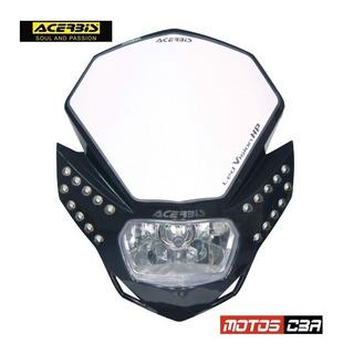 Mascara Faro Led Vision Acerbis Negra Motoscba S