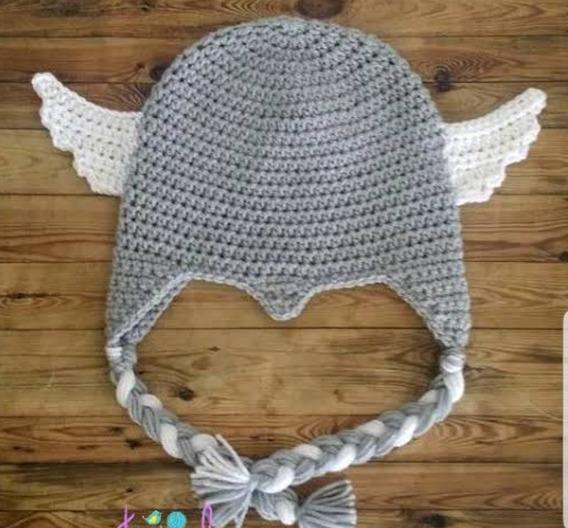 Gorro Do Thor Croche (tamanho 0 A 4 Anos)