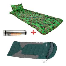 Kit Camping Selva Saco De Dormir + Isolante + Colchonete