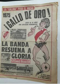 River Campeon 1975 Diario Ultima Hora Beto Alonso Futbol