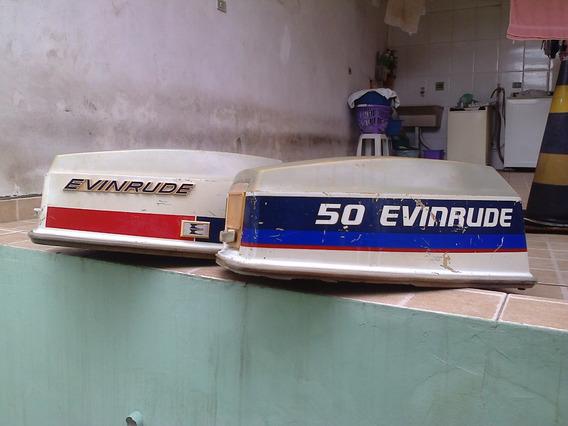 Capô Para Motor De Popa Evinrude 50 Hp