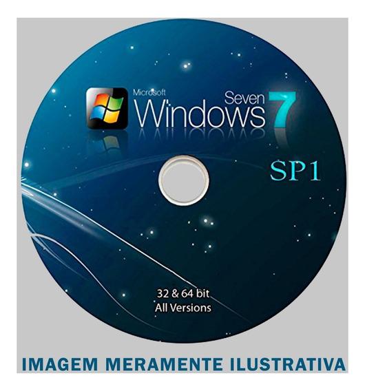 Cd Dvd Formatação Windows 7 32/64 Bits Sp1 - Várias Versões